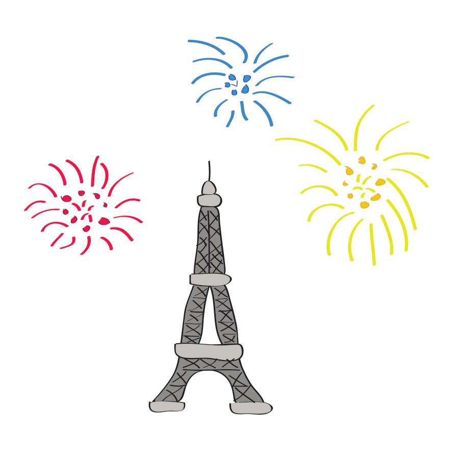 Bastille Day illustration
