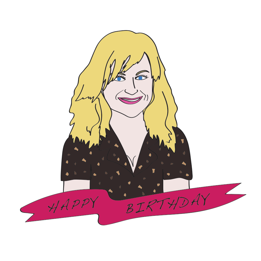Happy birthday Amy Poehler, Drawn for You