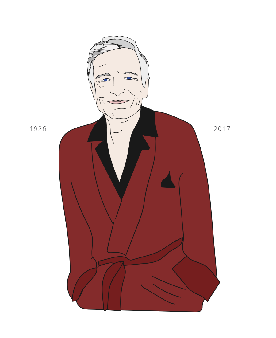 Goodbye Hugh Hefner, Drawn for You illustration
