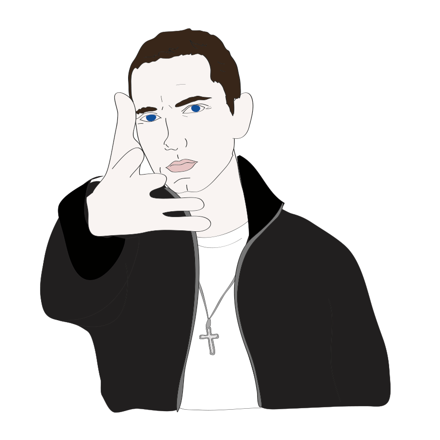 Happy birthday Eminem, illustration