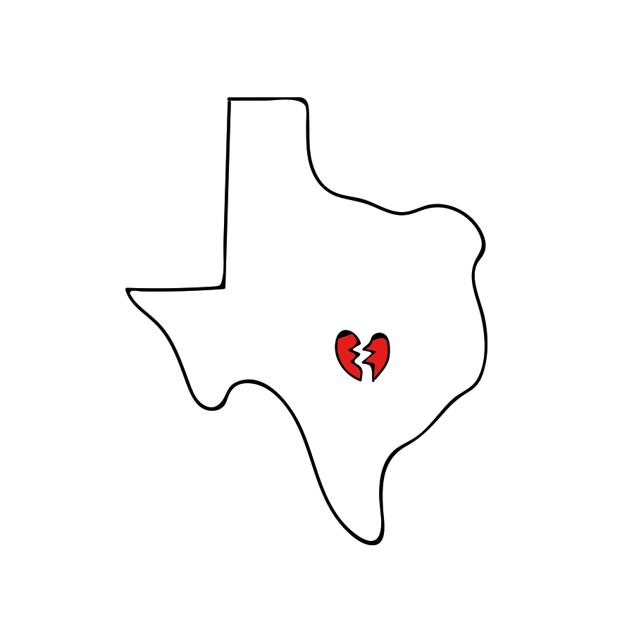 My Heart Breaks For Sutherland Springs Texas Drawn For You