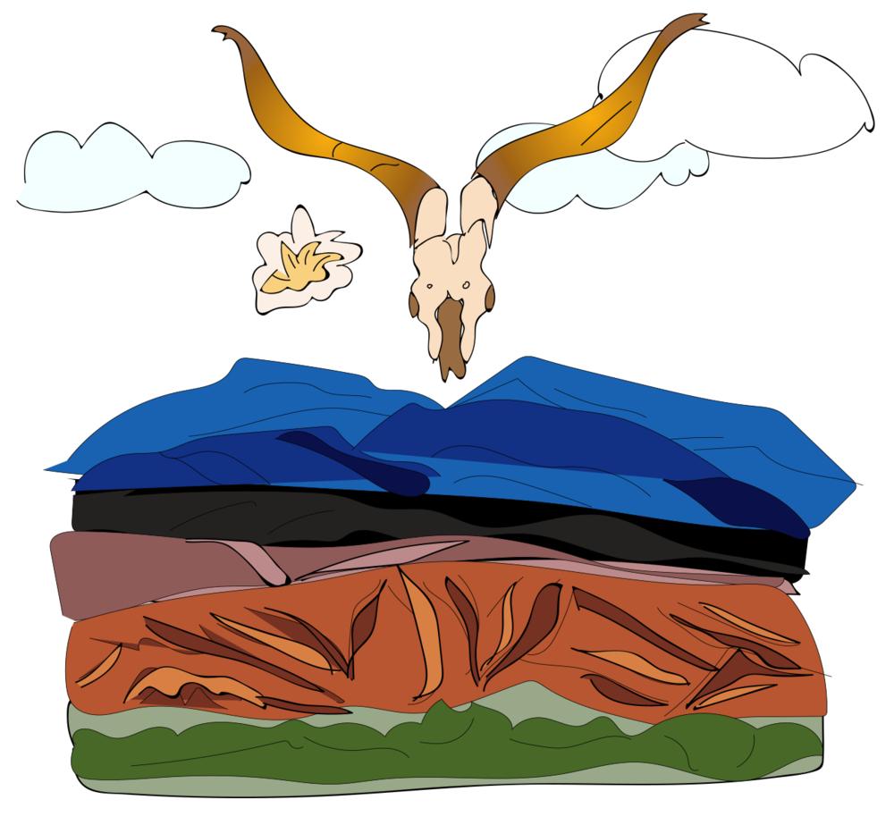 Georgia O'Keefe illustration