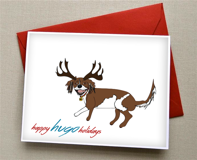Happy Holidays, holiday dog card