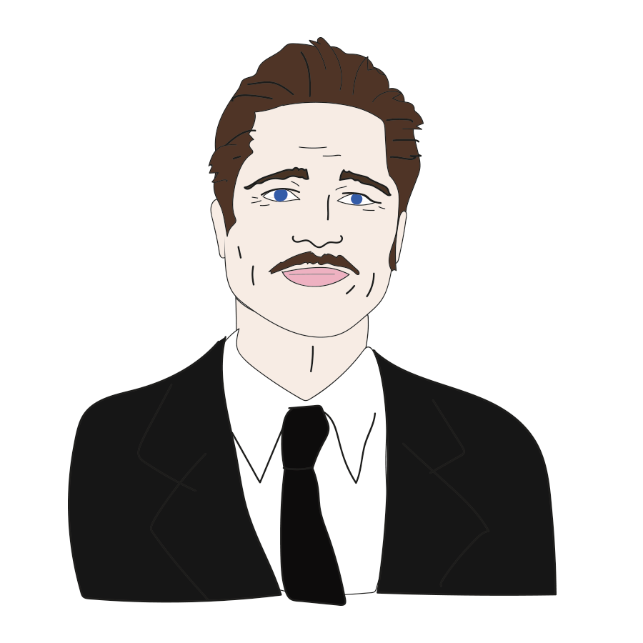 Brad Pitt, custom illustration