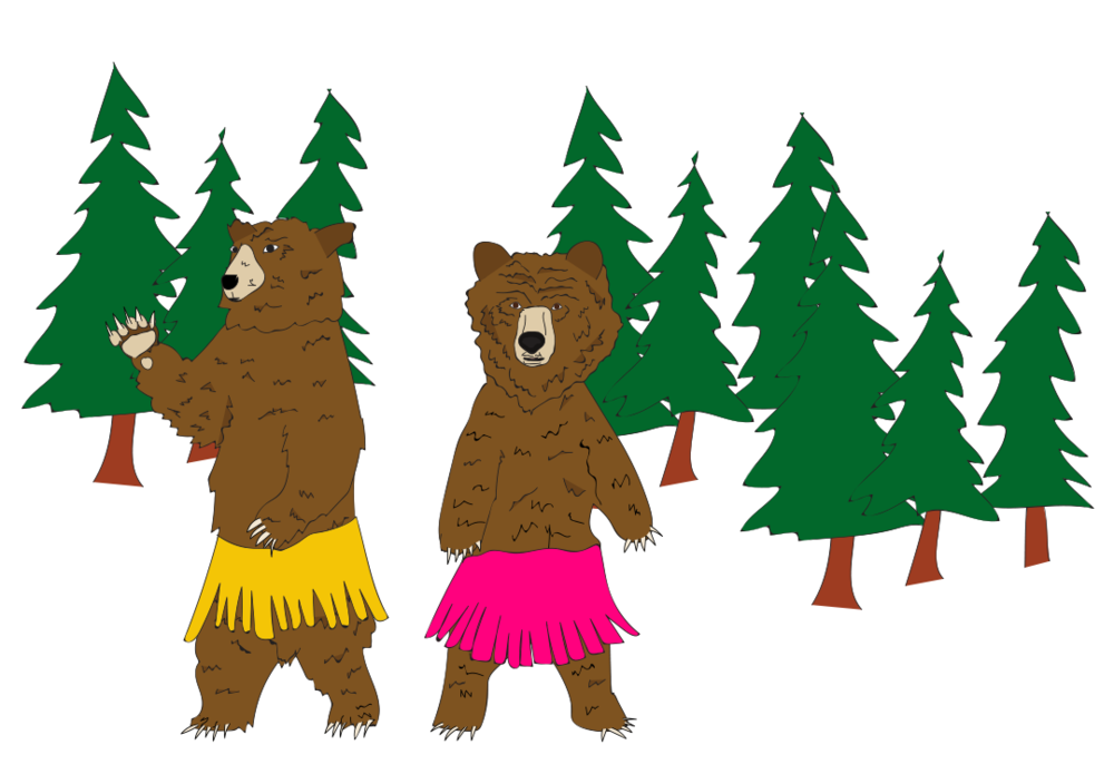 Dancing Bears illustration, Drawn for You