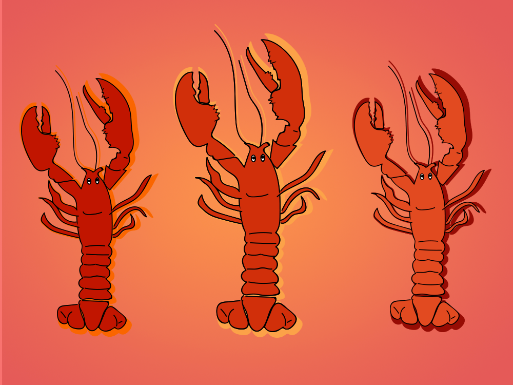 National Lobster Day, illustration