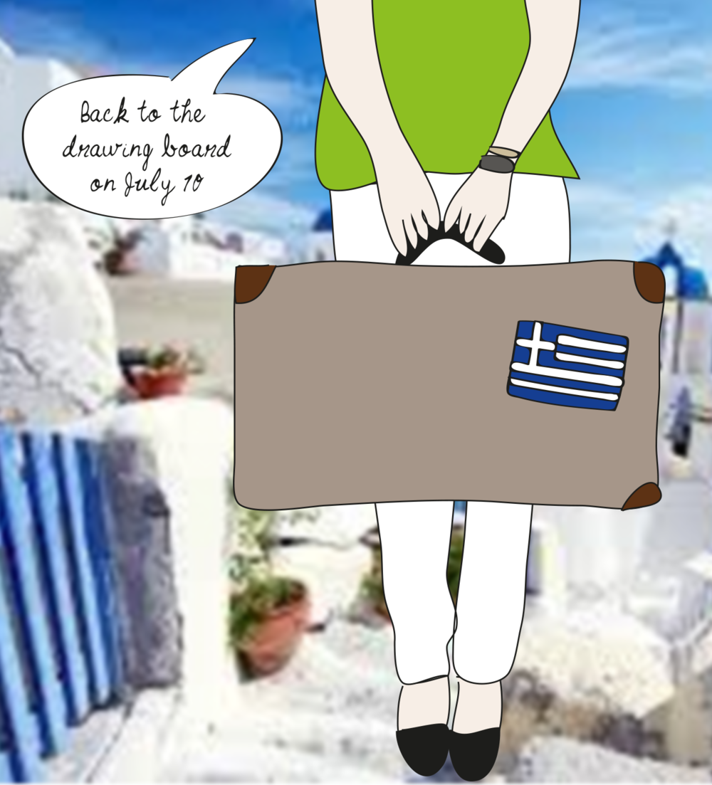 Drawn for You on vacation , Greece, illustration
