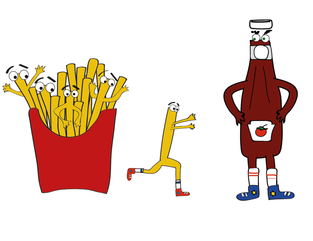 National French Fry Day illustration