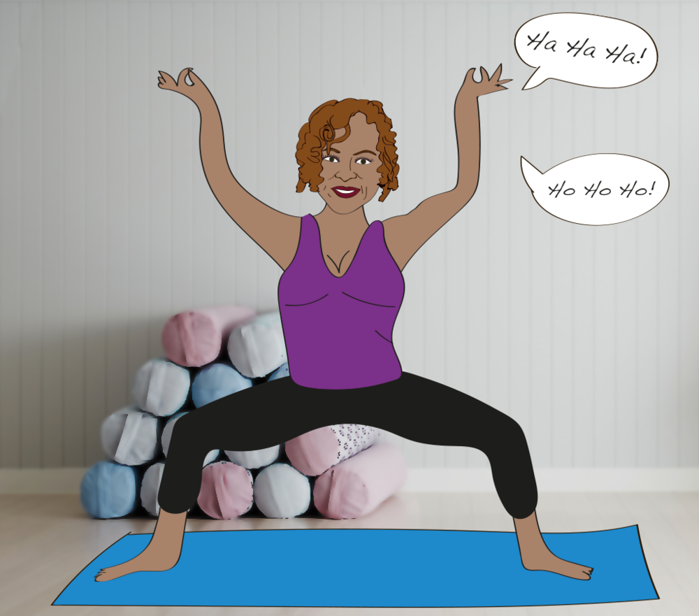 Robin Quivers tried Laughter Yoga, illustration
