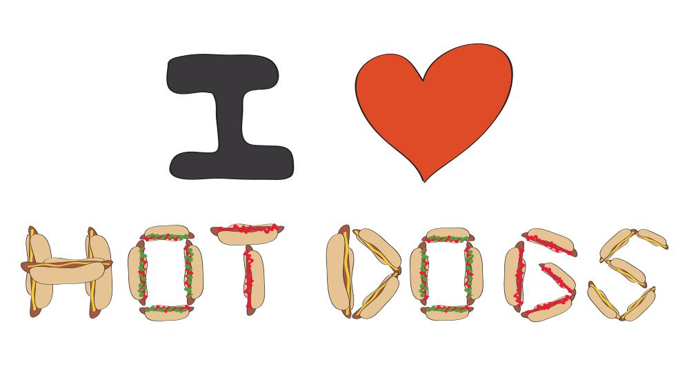 National Hot Dog Day illustration
