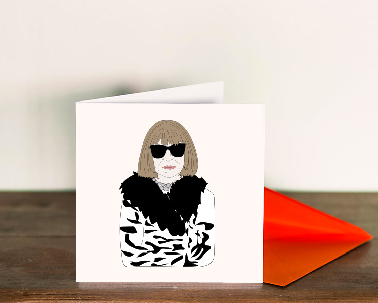 """Don't F with me"" cards featuring Anna Wintour"