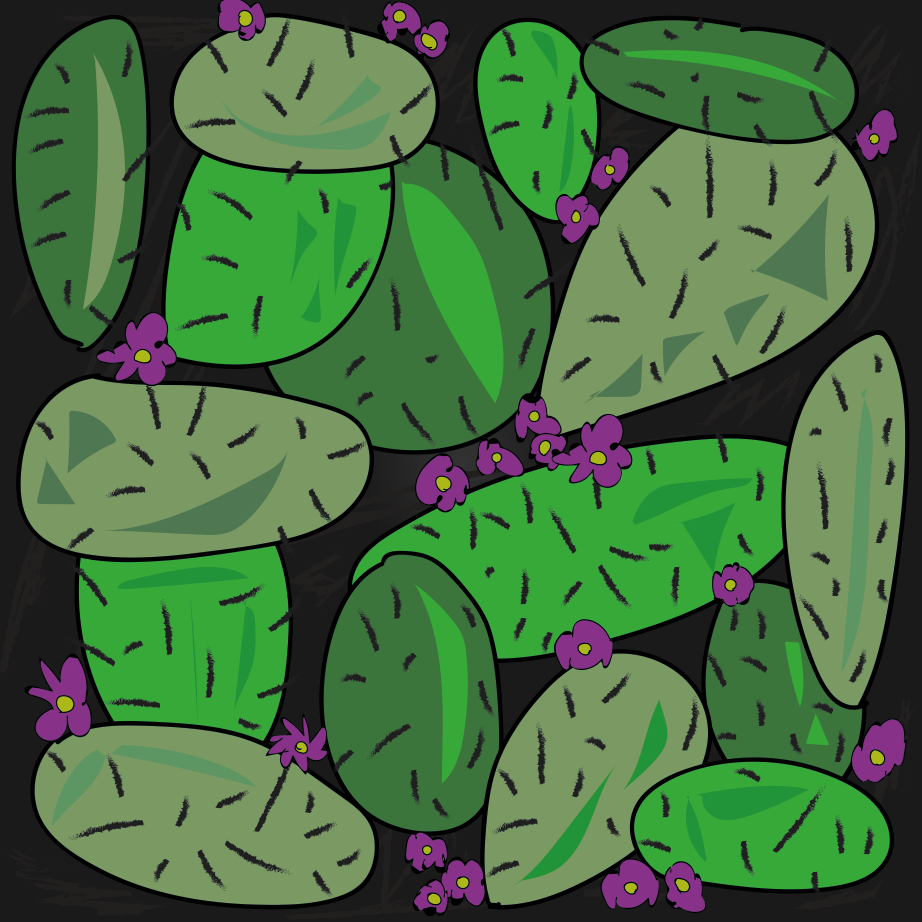 Cactus Party illustration, Drawn for You
