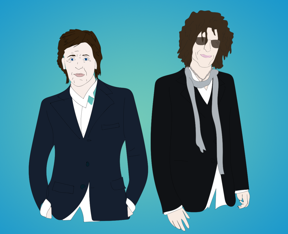 Paul McCartney and Howard Stern
