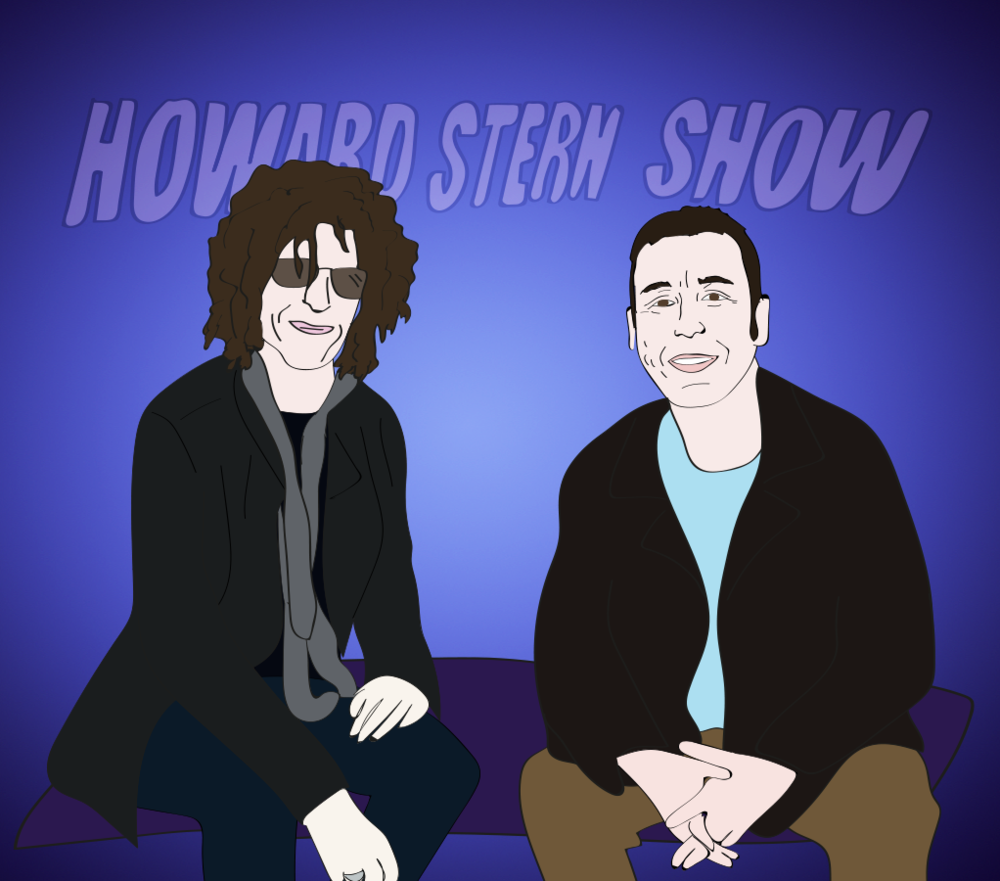 Howard Stern and Adam Sandler illustration