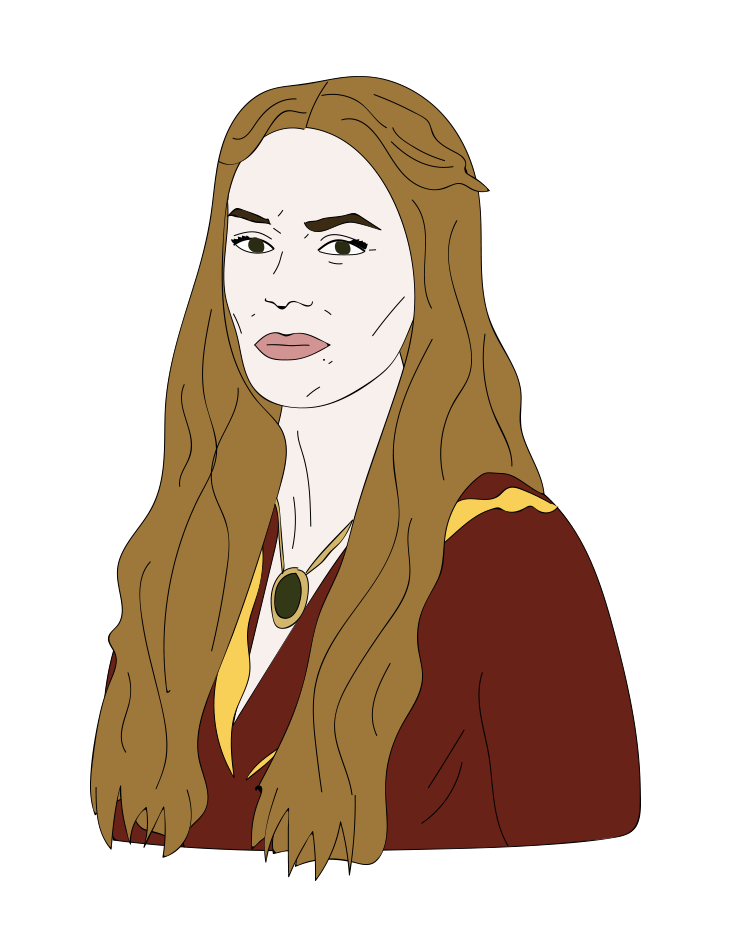 Lena Headey, Cersei, Game of Thrones illustration
