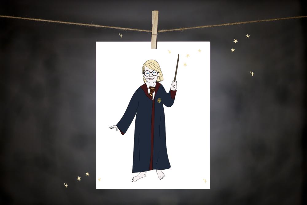 Custom illustration for Harry Potter lover