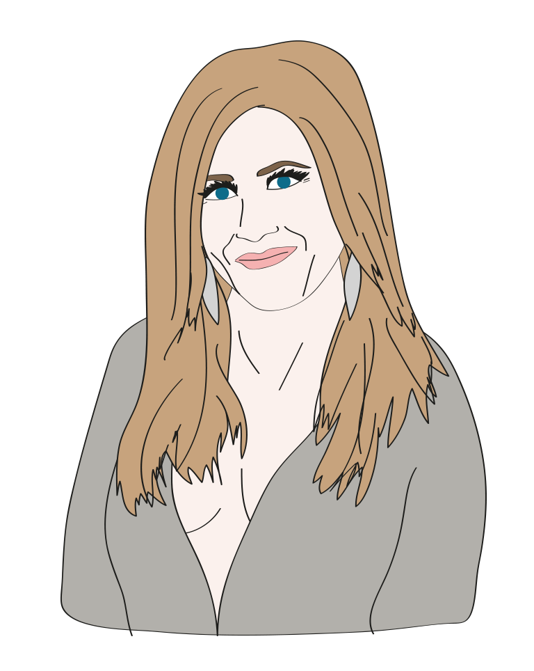 Jennifer Aniston illustration, Drawn for You