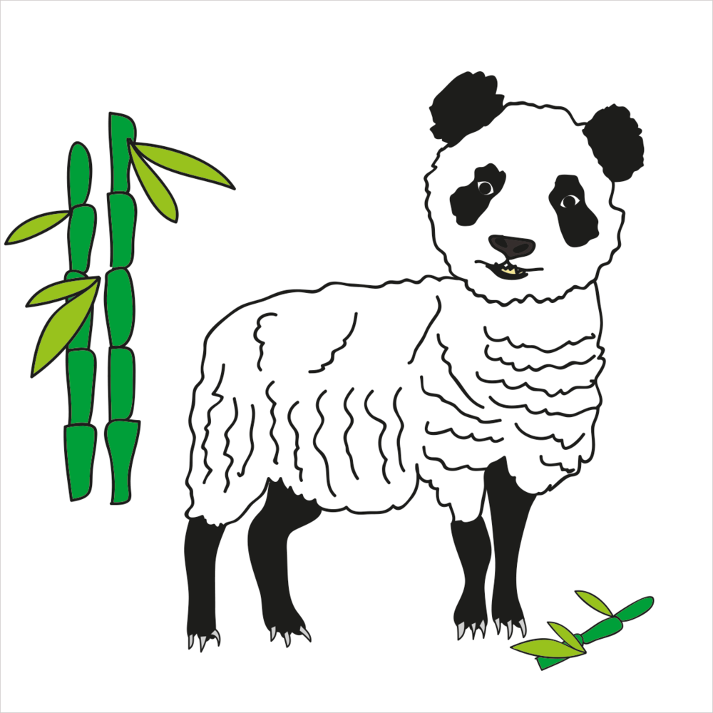 She has her winter coat on and loves bamboo. She is PANDASHEEP