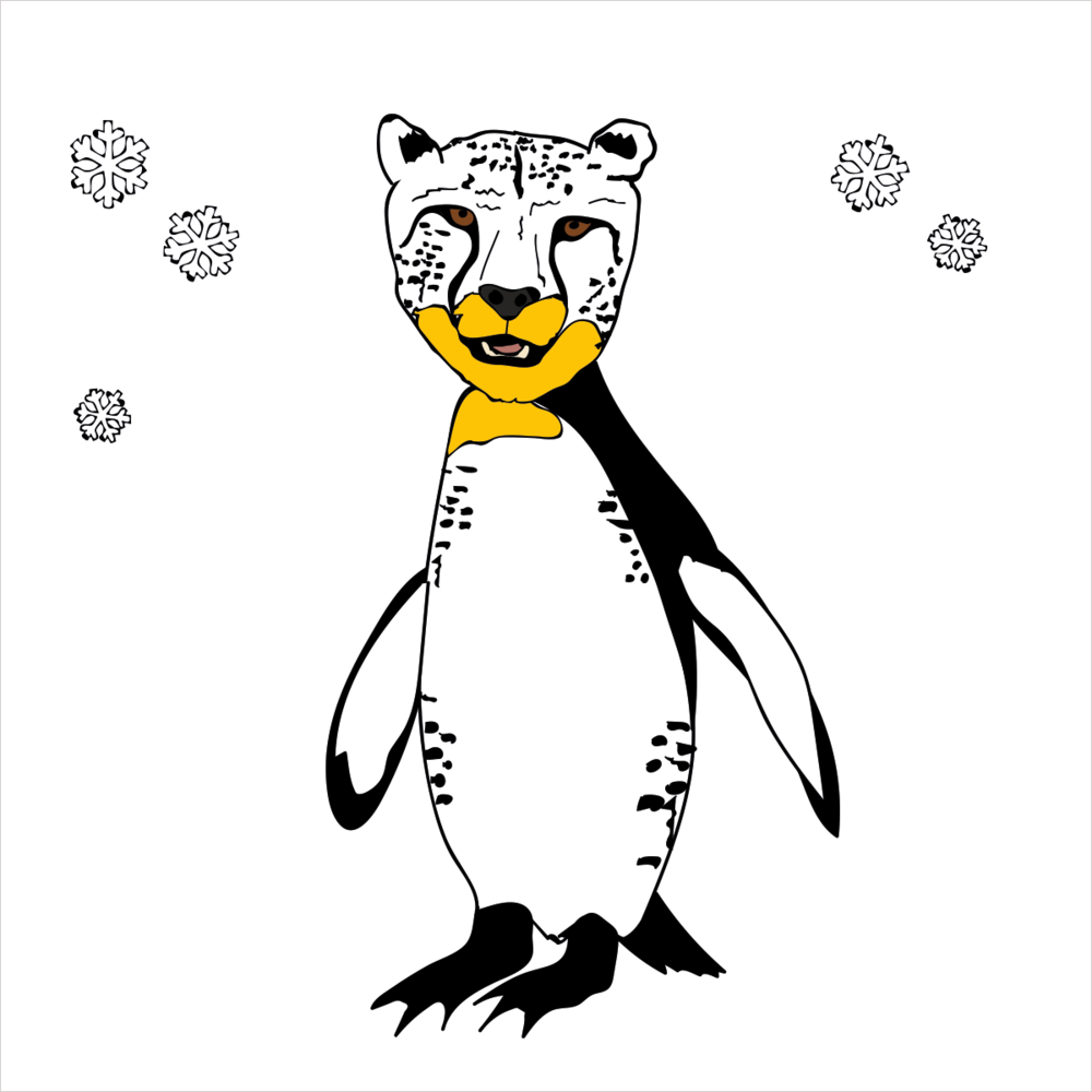He's built for speed and can outrun any animal all the while looking good doing it in his tuxedo. He is CHEETAHPENGUIN
