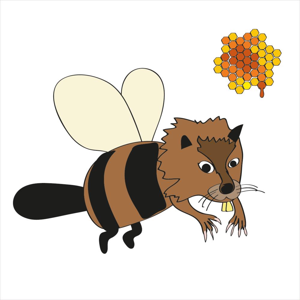 He builds dams and loves the taste of honey. He is BEAVERBEE