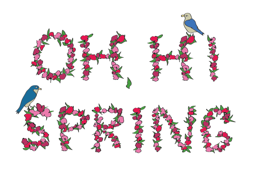 First day of Spring, illustration, Drawn for You