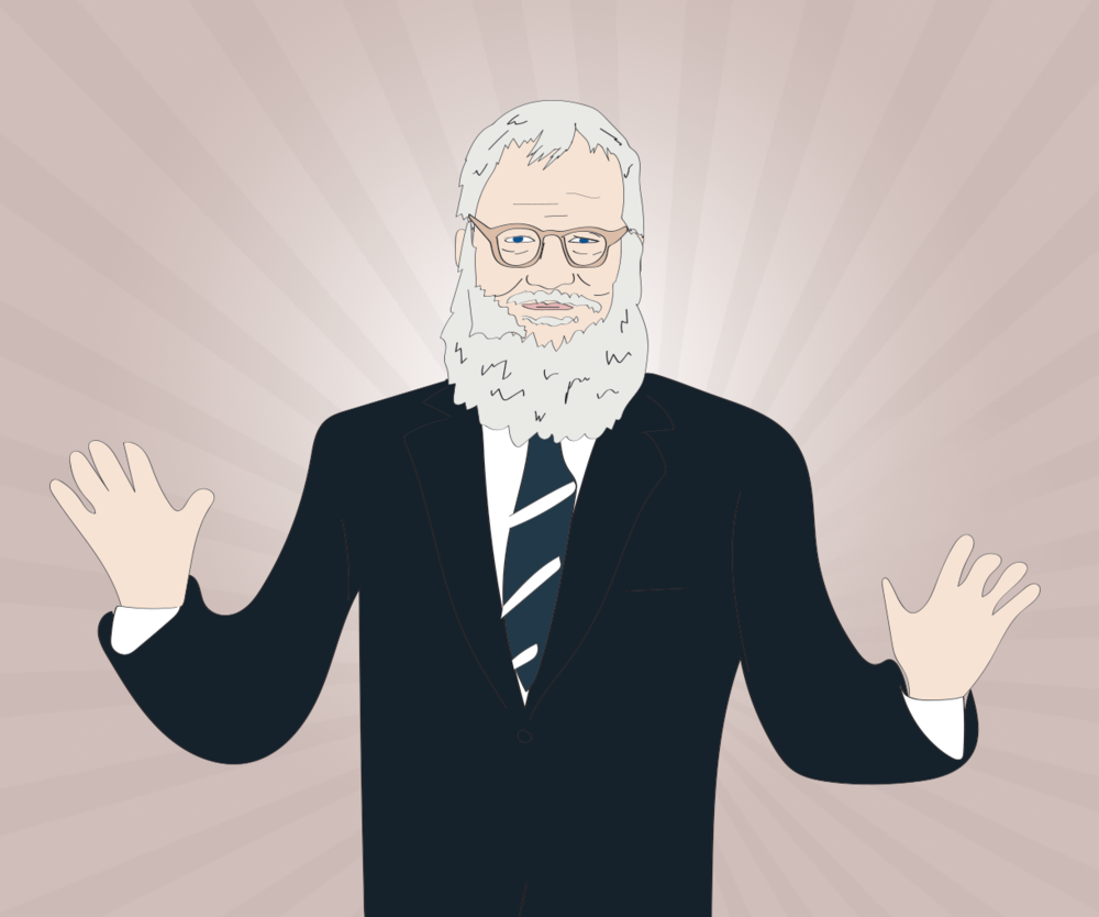 David Letterman illustration, Drawn for You