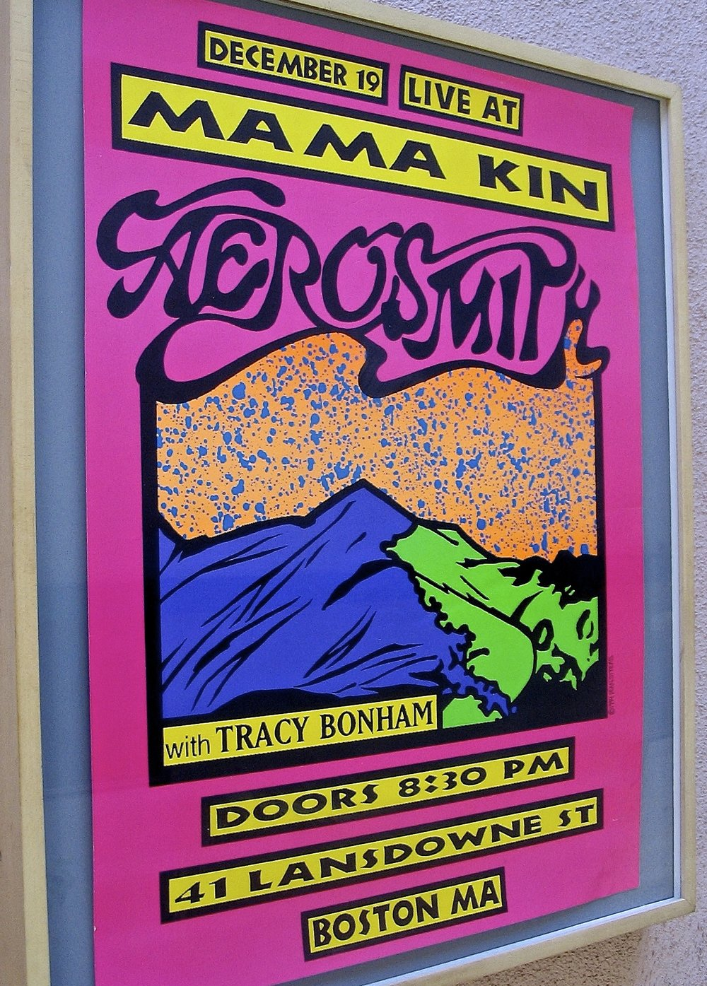 Old Aerosmith poster design.