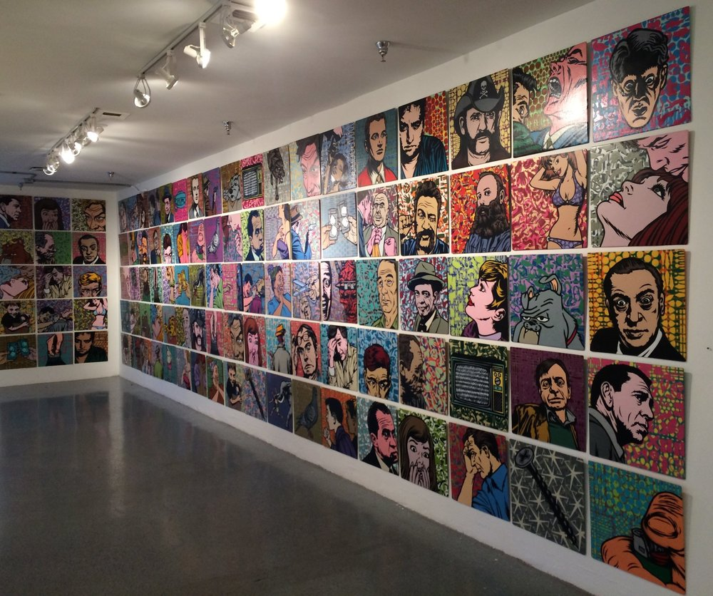 "Stencil paintings/installation for ""Mostly friends, sorta"" show. Los Angeles, 2015"