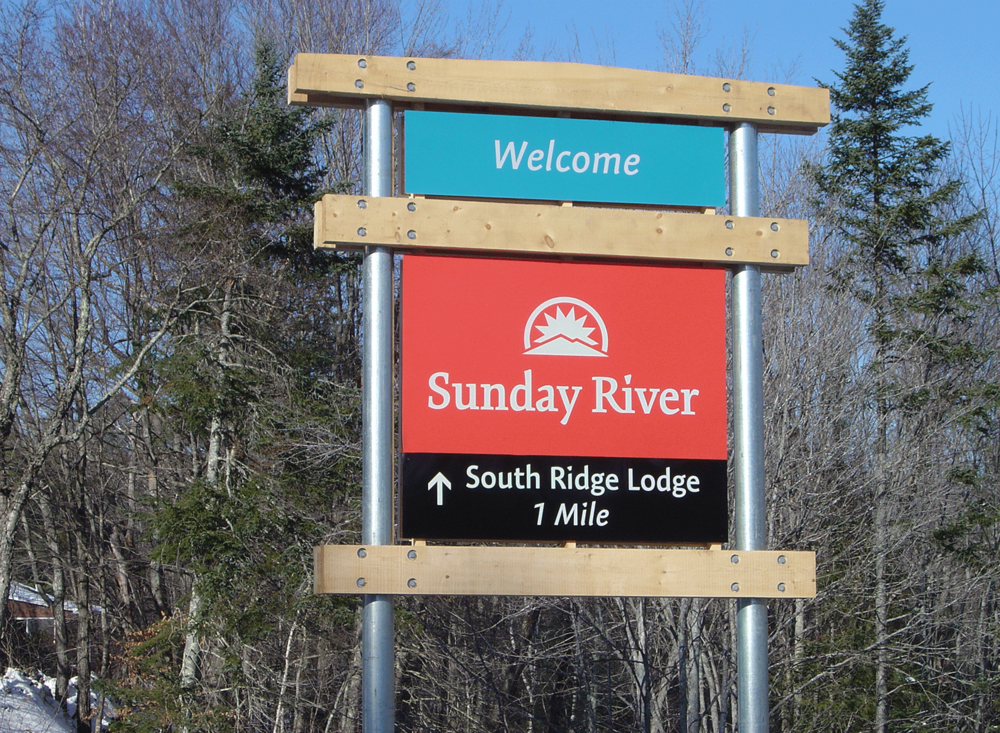 Sunday River Wayfinding Sign