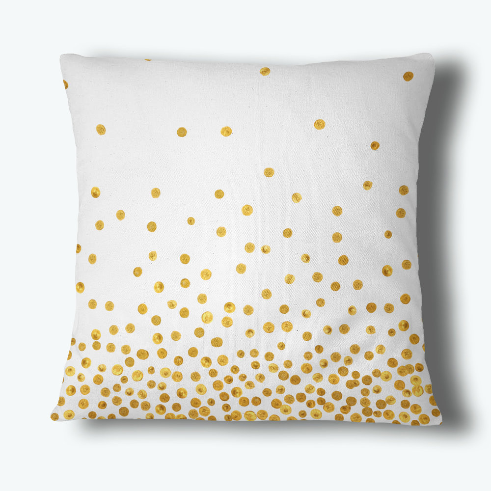 Confetti Dot Throw Pillow