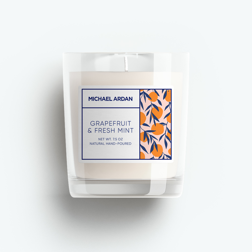 Grapefruit and Fresh Mint Candle