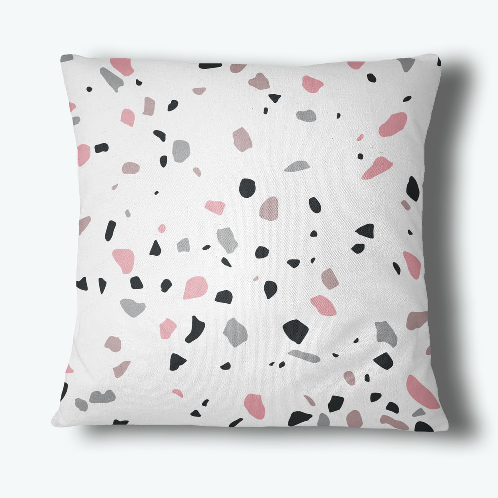 Terrazzo Throw Pillow, Blush