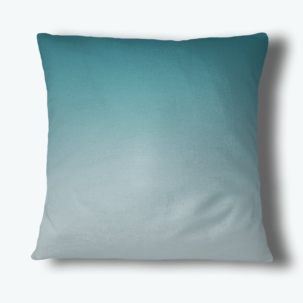 Fade Out Throw Pillow, Teal