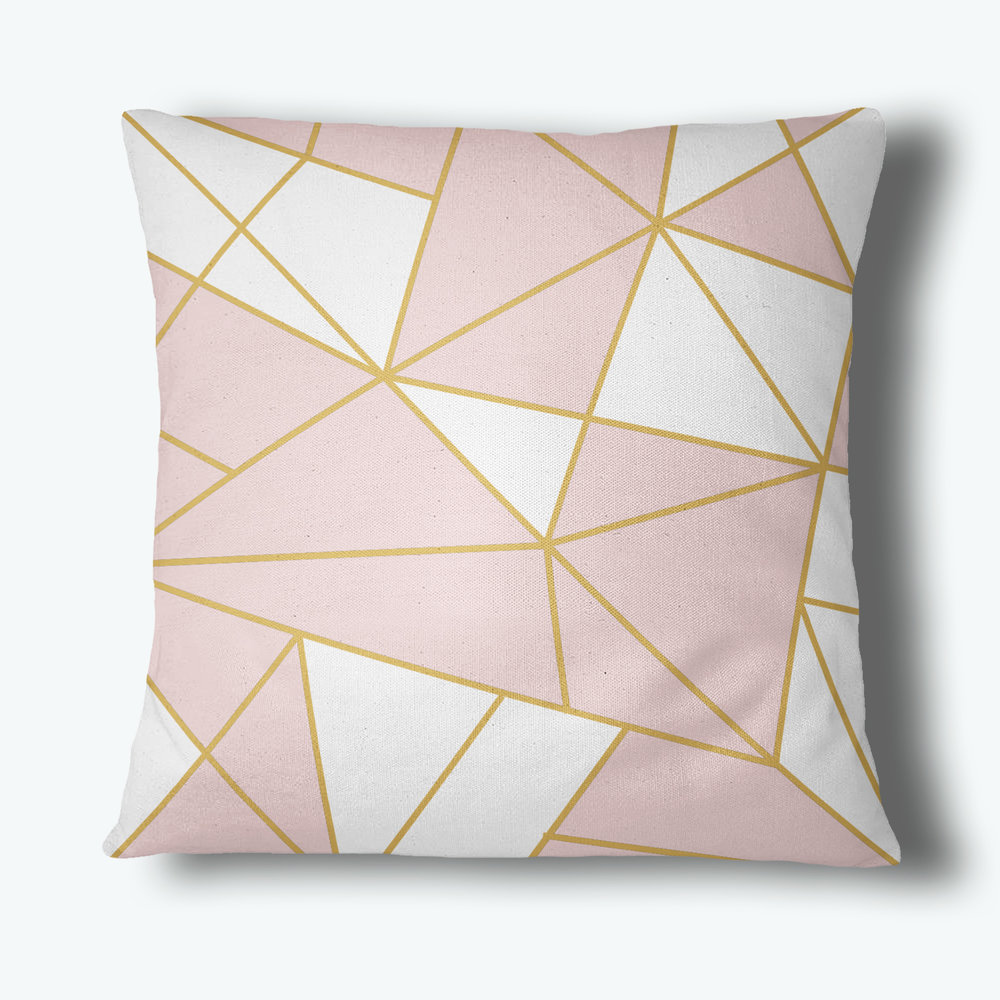 Refraction Throw Pillow, Blush
