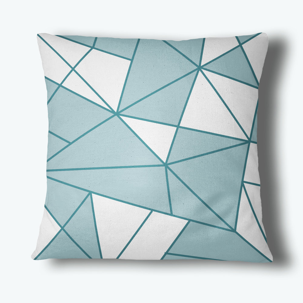 Refraction Throw Pillow, Teal