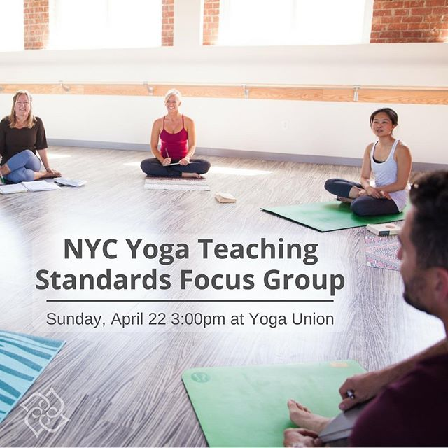 """This is great for the future of Yoga Teaching around the world. Please attend if you are anywhere near NYC!  Reposting @yogaalliance: ... """"The President, COO, and Chief Yoga Advancement Officer of @yogaalliance are coming to NYC to hear from you! We need your input, advice, and guidance. Come be part of the conversation and share your feedback (refreshments will be served). Please RSVP - link in bio"""""""