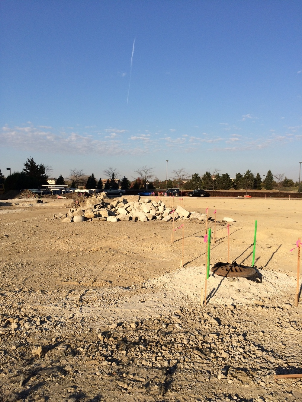 Site storm sewer work for the expanded surface lot is complete