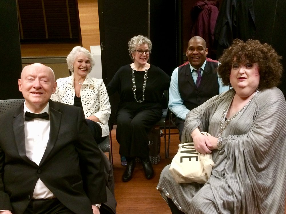 Waiting to sing at Manhattan Plazas holiday cabaret with this talented folks. Ira Lee Collings , Marta Sanders, Georga Osborn, Tony Perry and Ruby Rims.