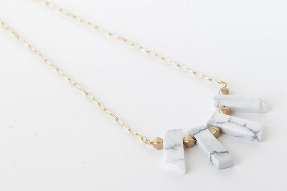 Marble Minimalist Necklace