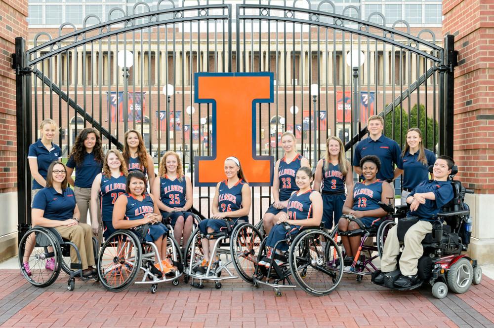 Photo courtesy of the University of Illinois women's wheelchair basketball team