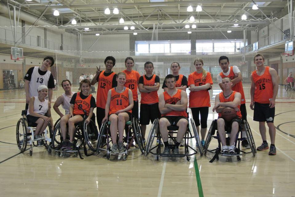 Photo courtesy of Oregon State University's Wheelchair Basketball Club