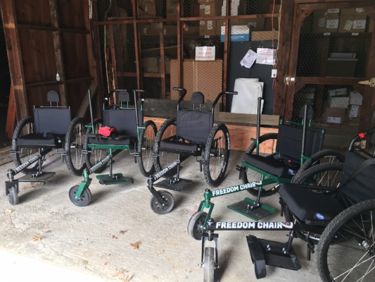 A whole fleet of Freedom Chairs!