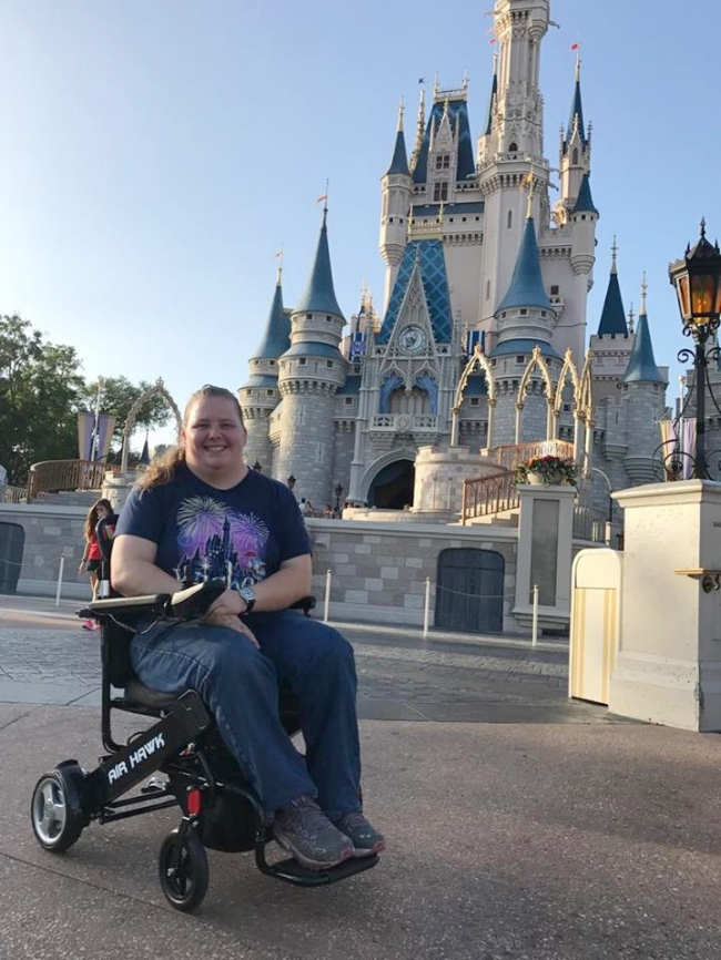 This friend of mine is able to enjoy frequent visits to Disney World thanks to using her wheelchair.