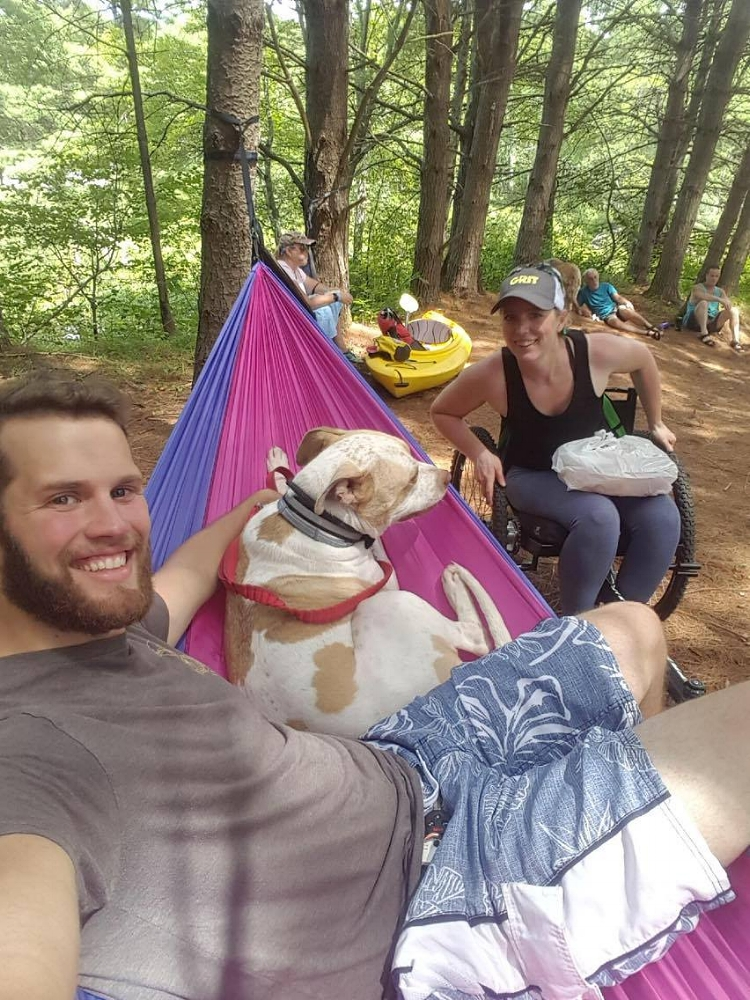 "My friend who helped me up and down the steps and brought in so many kayaks. I let him relax in my hammock during lunch as a ""thank you."""