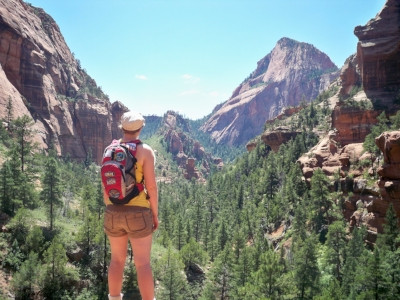 Hiking in the back country of Zion National Park before my illness struck.