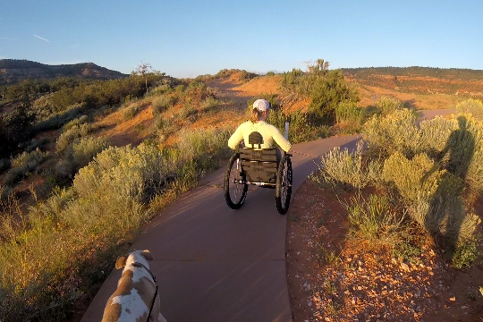 Certainly you can use the paved accessible trails in recreation areas. The Freedom Chair allows you the ease to get up the winding inclines that are common in these areas, enjoy the views, and even duck off the trail if you feel up for it.