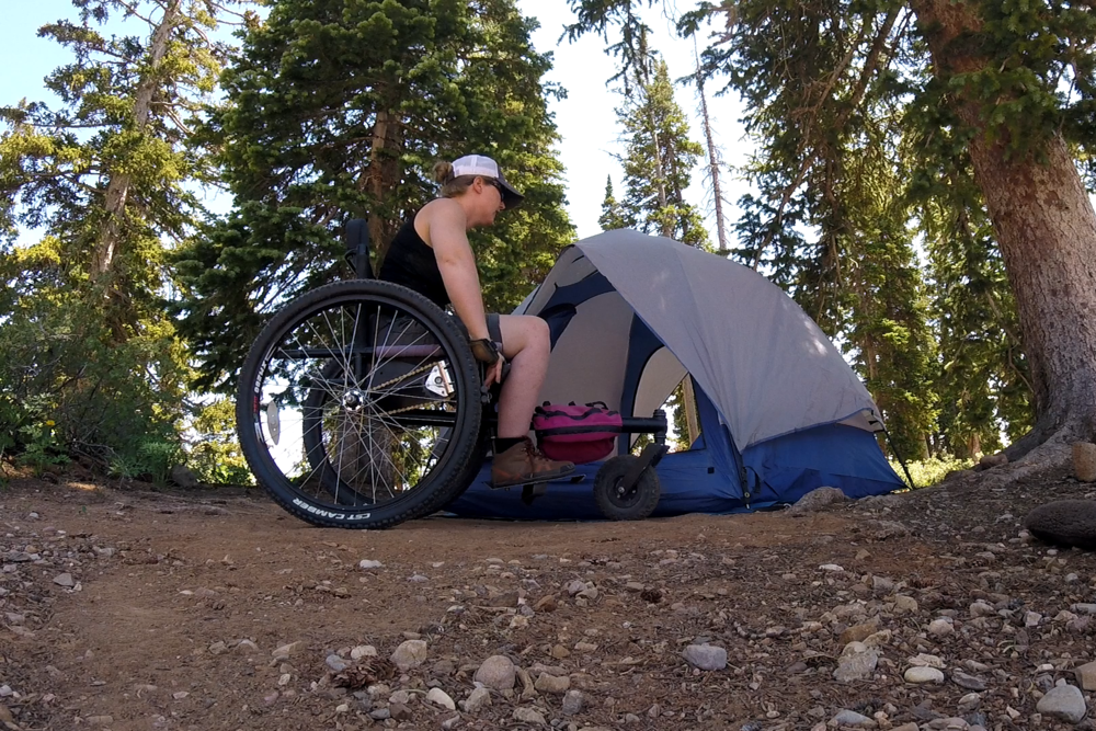 """Thanks to having my GRIT Freedom Chair along, I was able to chose a more scenic campsite than their designated """"wheelchair accessible"""" spots."""