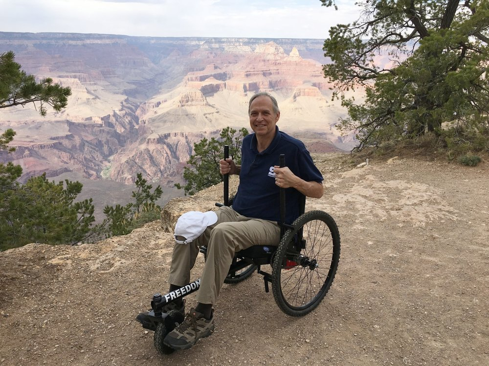 Photo Features  GRIT Freedom Chair  Rider Ralph Staus at Grand Canyon National Park