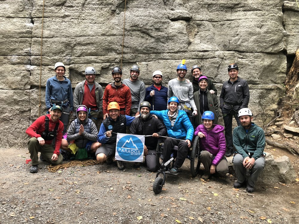 The Paradox Sports climbing team for the 2018 Gunks trip!