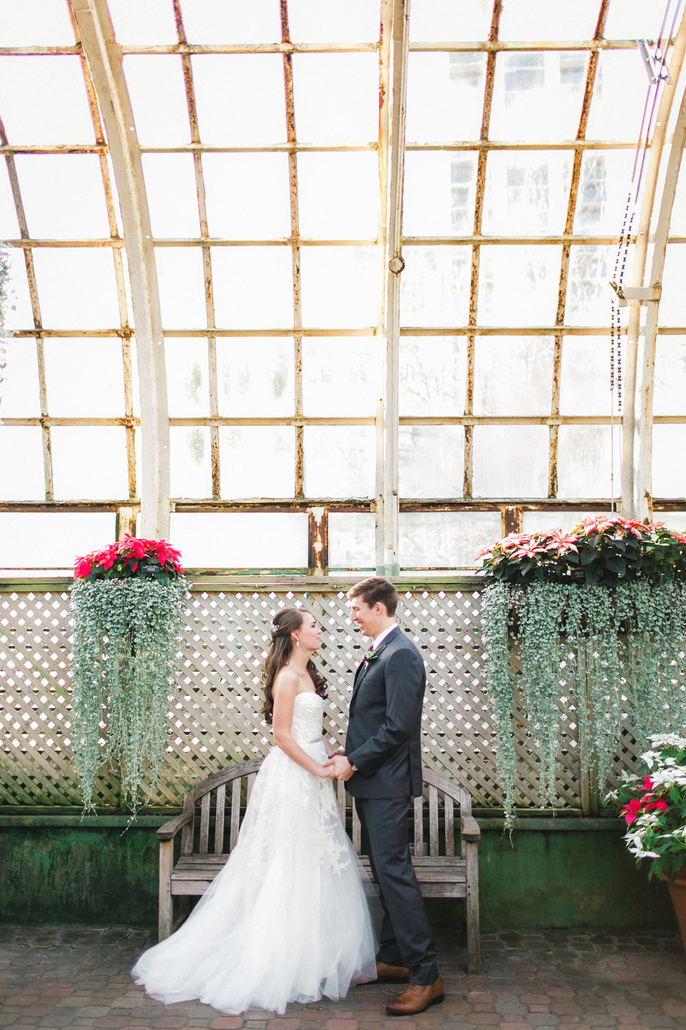 Wedding Portraits in a Conservatory